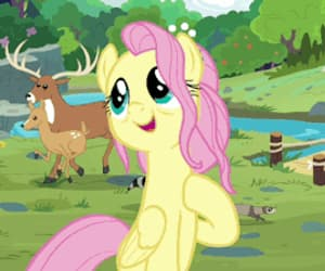 cartoon, gif, and fluttershy image