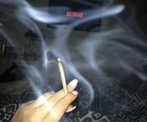 weed, netflix, and smoke image