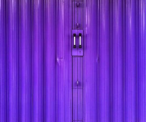 doors, purple, and industrial image