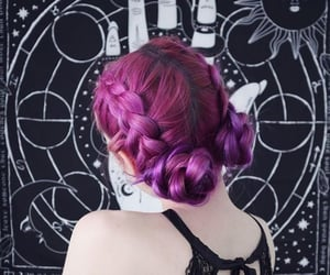 braids, buns, and colored hair image