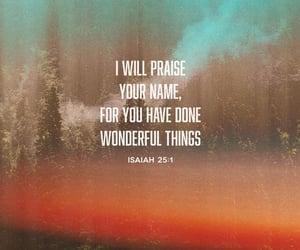 god, bible verse, and isaiah 25:1 image
