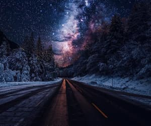 landscape, night, and road image