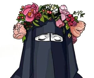 beauty, muslimah art, and girl image