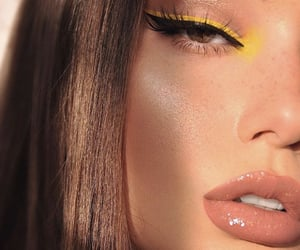 makeup, beauty, and yellow image