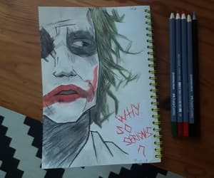 heathledger, joker, and drawjoker image