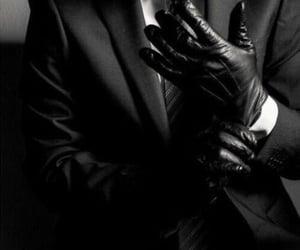 gloves, black, and man image
