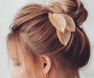 bun, fashion, and girl image