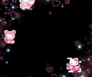 border, hello kitty, and pink image