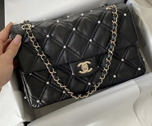 aesthetic, black, and chanel image