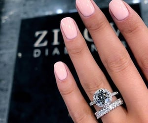 luxury, nails, and ring image
