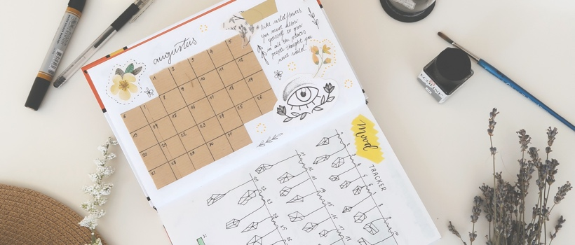 article, bullet journal, and lettering image