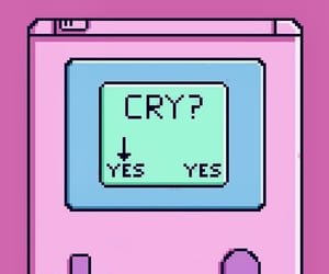 wallpaper, cry, and pink image