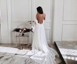 girl, marble, and wedding image