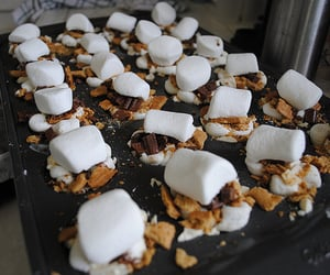 food, chocolate, and marshmallow image
