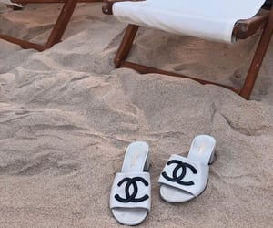 beach, chanel, and chic image