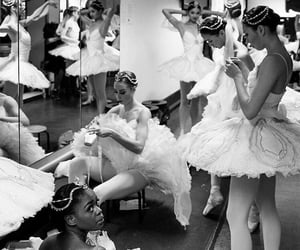 back stage, dancers, and ballerinas image