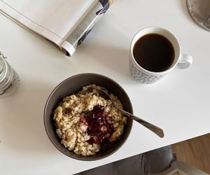 abs, black coffee, and breakfast image