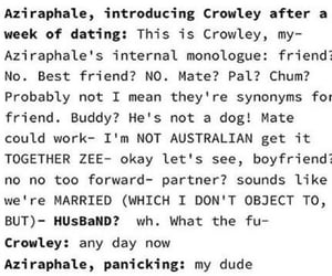 aziraphale, good omens, and crowley image