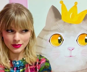 Taylor Swift, cat, and lover image
