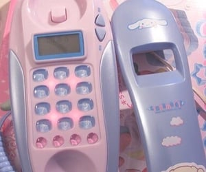 pink, kawaii, and phone image