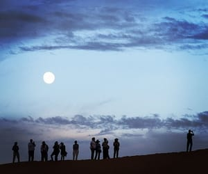 moon, night, and people image
