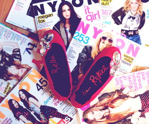 magazine, nylon, and shoes image
