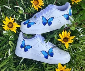 sneakers, butterfly af1, and blue butterfly af1 image