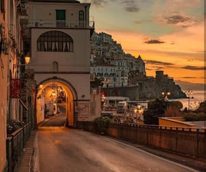 sunset, travel, and city image
