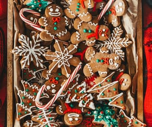 candy canes, christmas cookies, and gingerbread image