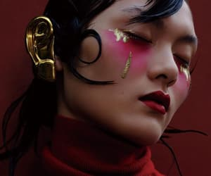 beauty, burgundy, and editorial image