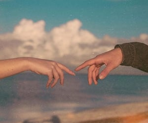 hands and couple image
