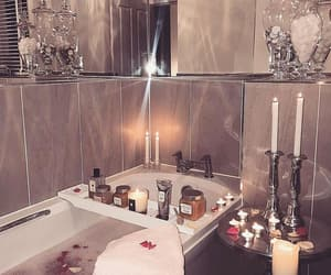 luxury, bath, and candles image