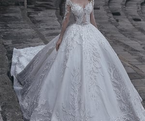 wedding, bride, and wedding dress image