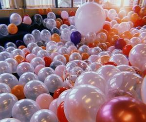 balloons, birthday, and bubbly image