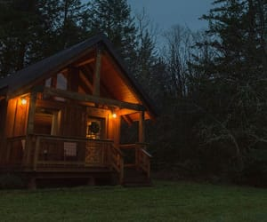 nature, architecture, and cabin image