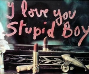 love, boy, and lipstick image