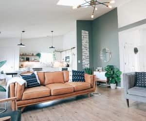 green, orange, and sofa image