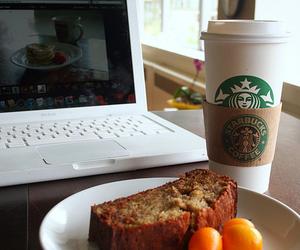 starbucks, food, and laptop image
