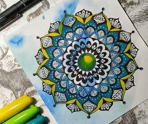 drawing, mandala, and mandalalovers image