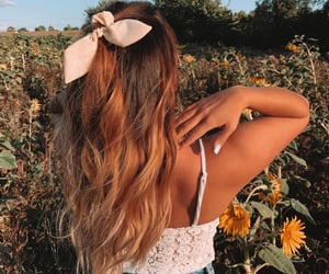 hair, sunflowers, and photooftheday image