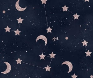 stars, wallpaper, and moon image