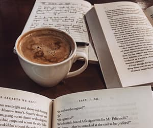 coffee, books, and delicious image