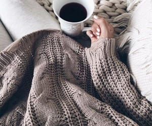coffee, cozy, and blanket image