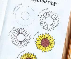 doodle, sunflower, and bujo inspo image
