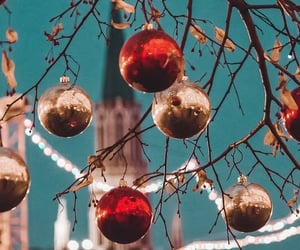 background, balls, and christmas image