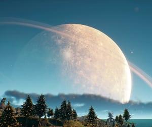 blue, sci-fi, and sky image