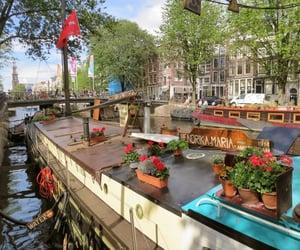 canal, keukenhof, and thenetherlands image