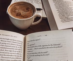 coffee, book, and delicious image