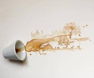 art, coffee, and inspiration image