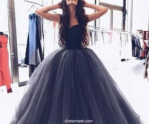 prom dress, tulle prom dress, and ball gown prom dress image